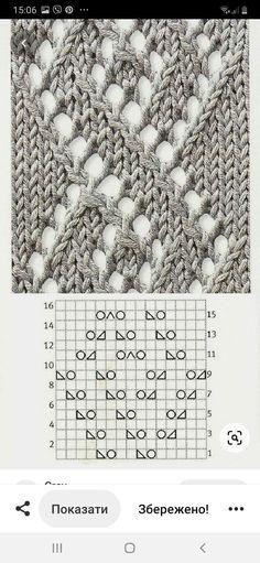 Lace Knitting, Knitting Stitches, Knit Crochet, Knitting Patterns, Lace Patterns, Stitch Patterns, Le Point, Knitting Projects, Crafts
