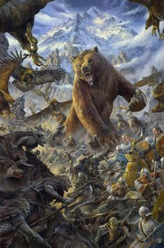 "The battle of the five armies. At the end of ""The Hobbit"". Hope they put Beorn (the big bear), in the second movie at least :("