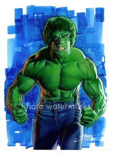 TV Incredible Hulk/Ferrigno by SteveStanleyArt on DeviantArt Comic Book Characters, Marvel Characters, Marvel Movies, Hulk Avengers, Hulk Marvel, The Incredible Hulk 1978, Giant Monster Movies, Hulk Movie, Hulk Party