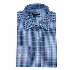 Chemise coupe cintrée marine à carreaux turquoise #chemise http://www.cafecoton.fr/chemises/10500-chemise-coupe-cintree-a-carreaux-marine-et-ciel.html