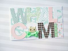 "Never Cut the Scrap!: ""Whalecome baby"" card. #card #cardmaking #cratepaper #fancypantsdesigns #scrapbooking"