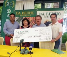 l Grupo de Restauración Da Bruno ha mostrado su compromiso con la alimentación los más desfavorecidos a través de la donación de 600 euros en favor de la Asociación Ser Humano, recaudados en el Torneo de Golf celebrado con motivo de su 20 aniversario en la Costa del Sol.