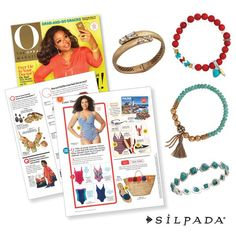 The editors at @Oprah  threw a Silpada arm party in their June issue!