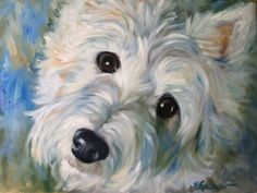 "Signed PRINT Westie West Highland Terrier Dog Art by Mary Sparrow Colorful Fun Whimsical Pet ""Gracie"" via Etsy"