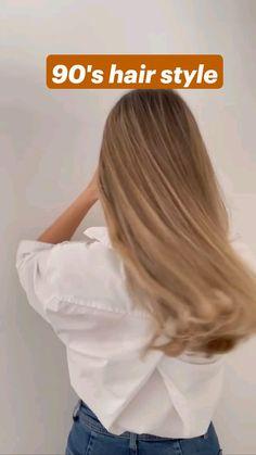 Hair Tips Video, Hair Videos, Easy Hairstyles For Long Hair, Cute Hairstyles, No Heat Hairstyles, Medium Hair Styles, Curly Hair Styles, Hair Upstyles, Aesthetic Hair