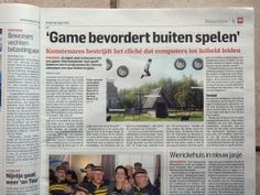 'Game stimulates playing outside'. Interview in AD Groene Hart Woerden