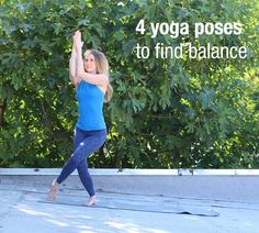 4 Yoga Poses to find Balance Standing At Attention, Body Hacks, Yoga Tips, Tantra, Asana, Yoga Meditation, How To Do Yoga, Get Healthy, Yoga Fitness