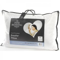 The Fine Bedding Company Breathe Pillow - A luxurious, temperature regulating pillow that is highly breathable.