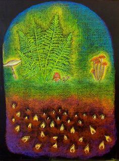 In the Mushroom Kingdom Chalkboard Drawing