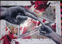 Tableau format 50x70 contemporain
