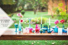 DIY vidros - lã, balão, verniz vitral, gliter