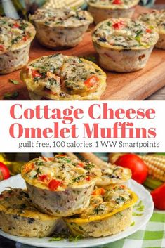 These protein packed cottage cheese and egg muffins can be made with any vegetables, cheese, and meat you like and pack in over 10 grams of protein. Plus they are freezer friendly. #breakfast #freezerfriendly #kidfriendly #makeahead #quickandeasy Egg Recipes, Muffin Recipes, Gourmet Recipes, Healthy Recipes, Healthy Cottage Cheese Recipes, Cottage Cheese Recipe For Baby, Cottage Cheese Omelette Recipe, Omelete Recipes, Side Recipes