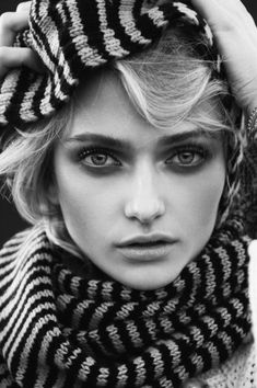 Annabella Barber by Matthew Priestley for Fashion Gone Rogue: Great beauty shot. Model wears Missoni scarf in this beauty shot. Check out the rest of the editorial. The wardrobe is quite simple. The images are more artistic. This is great photography!