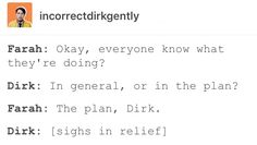 Dirk Gently's Holistic Detective Agency, Dirk Gently