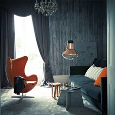 Decor Spotting: How to Properly Use Orange and Gray--nice to know there are rules about this!