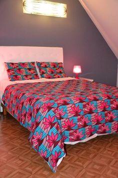Parure de lit en waxprint bedlinen in waxprint ankara bedlinen cover in Wax / eshop.waxindeco.com