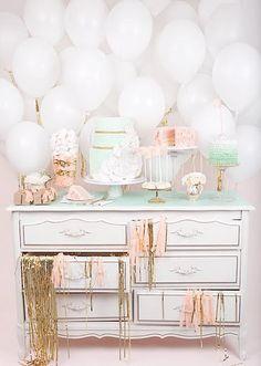love the idea of balloons as a backdrop