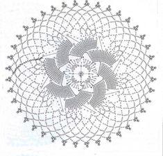 Centrino+con+la+girandola - Centrino+all%27uncinetto+con+una+decorazione+a+forma+di+girandola