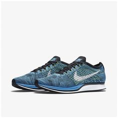 competitive price 511e0 69aca Nike Flyknit Racer Blue Cactus Running Shoes For Men, New Trainers, Nike  Flyknit Racer