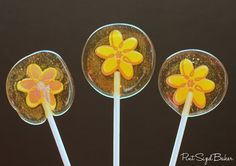 Test your candy making skills with these Microwaved Hard Candy Lollipops! They taste so sweet, but they take a lot of patience to make. Lollipop Recipe, Lollipop Candy, Lollipop Sticks, How To Make Lollipops, Homemade Lollipops, Hard Candy Recipes, Sweet Recipes, Taffy Candy, Candy Cookies