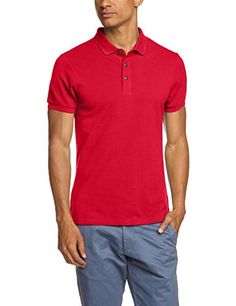Crew Clothing Classic Pique, Polo Homme, Red (Washed Cherry), X-Large