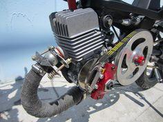 Garage - Build: Rockstar Moby by Tomahawk Mopeds Garden Tractor Pulling, Motorised Bike, Peugeot, Tractors, Engineering, Garage, Mopeds, Vehicles, Motors