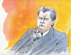 Courtroom sketch of John Wayne Gacy by Andy Austin