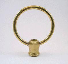 """Finial:  Lg Brass Loop.  1/8ip  3/8""""  2 1/8"""" tall"""