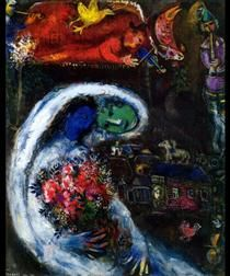 Bride with Blue Face - Marc Chagall