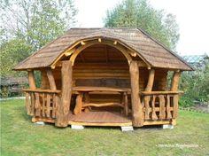 60 Amazing DIY Projects Otdoors Furniture Design Ideas 28 – Home Design Rustic Log Furniture, Outdoor Furniture Design, Patio Design, House Design, Terrace Building, Backyard Cottage, Gazebo Pergola, Cabin Homes, Diy Wood Projects
