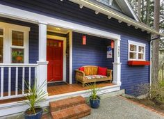 Exterior Paint Colors Blue red door | doors, house and exterior
