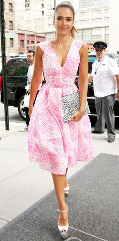 Look of the Day - August 13, 2014 - Jessica Alba in Antonio Berardi from #InStyle