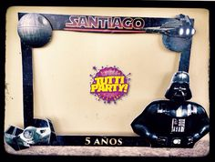 star wars party ideas darth vader photo shoot frame star wars photo frame