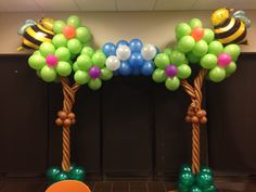 Balloon trees for a 1st birthday. All Out Ballooning