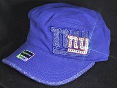 New York Giants Womens Military Cadet Swarovski Rhinestone Bling Hat  www.babywantsbling.com 7d663e56d29d