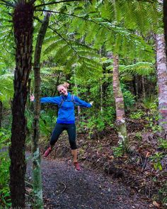Jane jumping for joy. It's the weekend and TGIF!  - Goldies Bush Auckland New Zealand  - Sony NEX-5R 18-55mm f/3.5 1/400s ISO 3200  - Lightroom