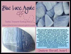 BLUE LACE AGATE CRYSTAL MEANING  www.crystaltreasuresknowingwithin.com