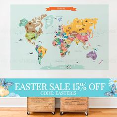 World map decal countries of the world map kids country world map world map decal countries of the world map kids country world map poster peel and stick poster sticker world map w1126 gumiabroncs Choice Image