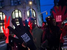 New York police report that two officers were assaulted by marchers that took to the streets to protest police violence on Saturday. Police also reported finding a bag of newly-purchased hammers that were apparently intended for use as weapons. www.blacklives.info
