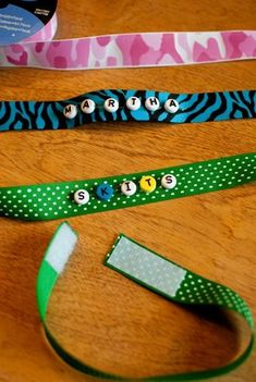 Pet Shop Party. Adopt Center make simple easy collars with just ribbon and velcro: