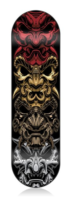 Skatedeck-samurai-vector-illustratio n. Hanya Tattoo, 1 Tattoo, Body Art Tattoos, Sleeve Tattoos, Quote Tattoos, Men Tattoos, Small Tattoos, Skateboard Design, Skateboard Art