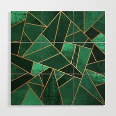 Buy Emerald and Copper Wood Wall Art by elisabethfredriksson. Worldwide shipping available at Society6.com. Just one of millions of high quality products available.