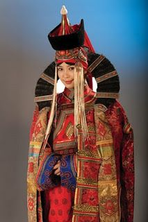 Mongolian girl, Mongolian traditional clothing, beautiful woman -reminds me of the costumes for Princess Amadalla in Star Wars 1, 2, and 3.
