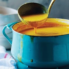 Coconut Cauliflower Soup with Ginger and Turmeric Andrew Zimmern and Clean Soups / Rebecca Katz w/Mat Edelson