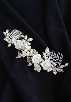 FONTAINE silver floral bridal headpiece 11