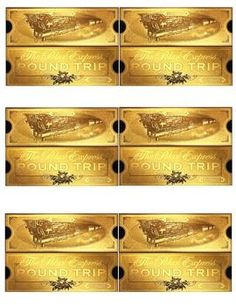 polar express golden ticket template - my take on the polar express tickets we printed them on