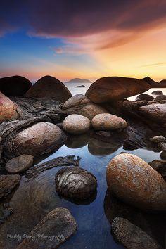 Blue Ray by Bobby Bong Color Photography, Amazing Photography, Beautiful World, Beautiful Places, Water Movement, Rock Decor, Beautiful Sunrise, Great Shots, Bongs
