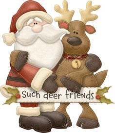 """Such Deer Friends"" - María José Argüeso Christmas Deer, Christmas Clipart, Christmas Signs, Christmas Greeting Cards, Christmas Printables, Christmas Pictures, All Things Christmas, Christmas Holidays, Christmas Ornaments"