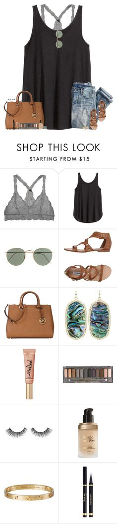 """""""•4-7-16•"""" by maggie-prep ❤ liked on Polyvore featuring H&M, J.Crew, Steve Madden, Michael Kors, Kendra Scott, Too Faced Cosmetics, Urban Decay, Cartier and Yves Saint Laurent"""