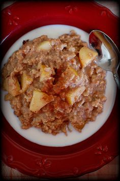 Apple Cinnamon Stovetop Oatmeal- This was delicious, but I definitely didn't cook it as long as suggested (20+ min)